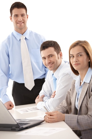 Portrait of happy team of young businesspeople. Stock Photo - 9538109