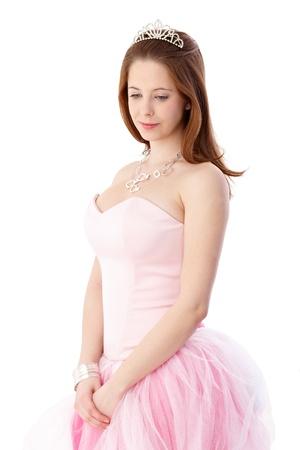 gingerish: Gingerish chica en elegante salir vestido y protector.