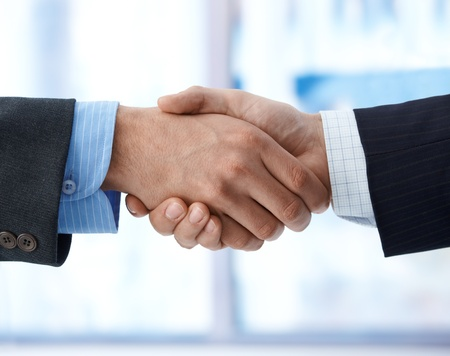 businessmen shaking hands: business handshake, agreement, success, congratulation.%uFFFD Stock Photo