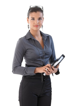 Attractive young businesswoman with personal organizer. Stock Photo - 9712225