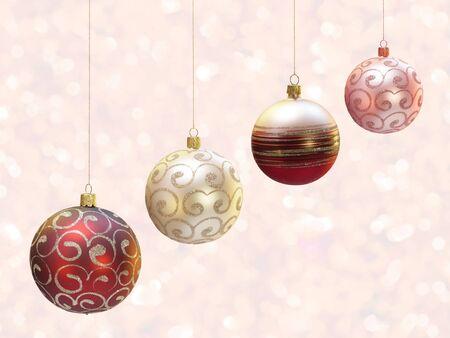 Christmas decoration over blured shiny background. Stock Photo - 10798970