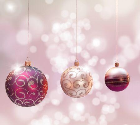 Christmas decoration over blured shiny background.� Stock Photo - 10798978