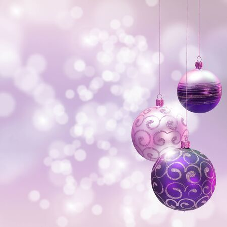 blured: Christmas decoration over blured shiny background. Space for text.� Stock Photo