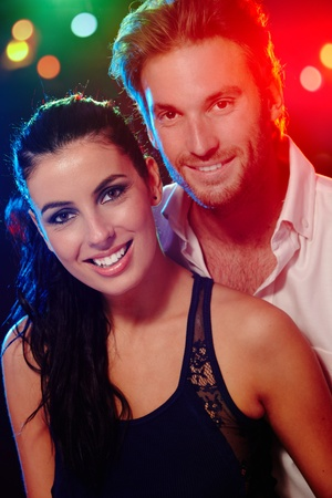 Portrait of beautiful happy couple at a party. Stock Photo - 11157037