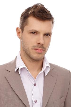 Closeup portrait of handsome young businessman. photo