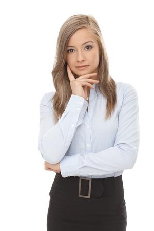 Portrait of confident blond businesswoman. photo