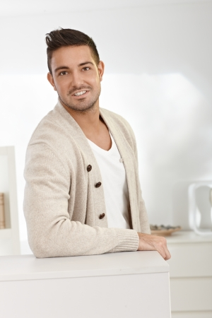 Portrait of casual young man smiling at home. Stock Photo - 15032825