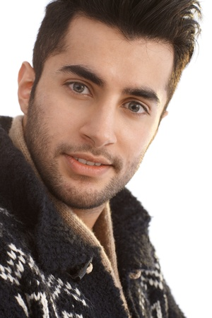 Closeup portrait of handsome young guy smiling. Stock Photo - 17083879