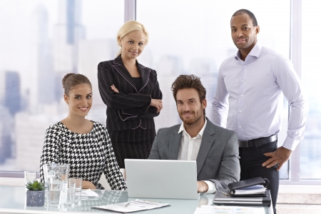 Portrait of attractive businesspeople at a meeting. Stock Photo - 17133927