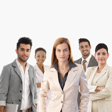 Team portrait of smiling young confident businesspeople. Stock Photo - 22072921