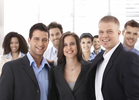 Team portrait of group of happy successful business people smiling. Stock Photo - 23413621