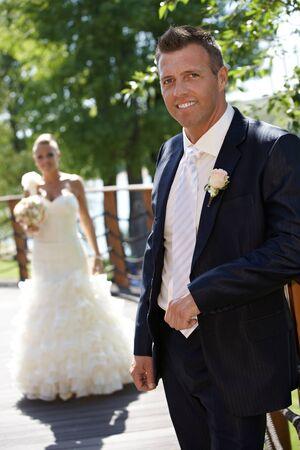 Happy man smiling on wedding-day Stock Photo - 25711158