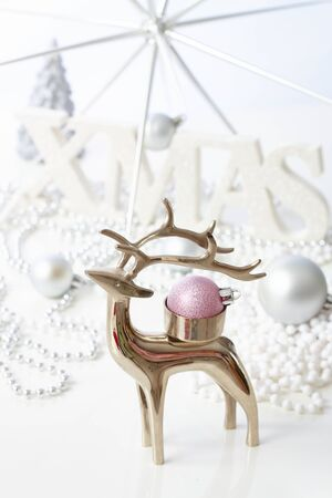 stilllife: Christmas still-life with reindeer. Stock Photo