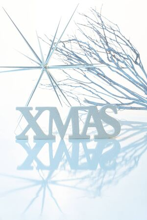 stockphoto: Pure white christmas decoration with letters xmas.
