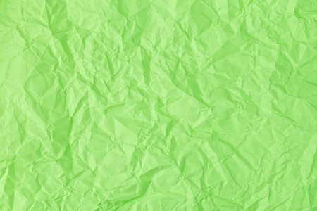Texture of crumpled Green paper
