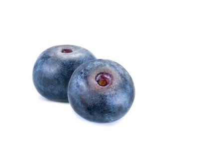 Blueberries. Fresh blueberries isolated on white background. Stock Photo