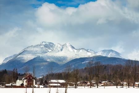 Beautiful Alpine mountains. Winter landscape.