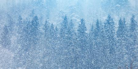 Beautiful Alpine mountains. A winter landscape in Austria.