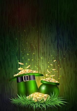 St. Patricks Day. Greeting card with a St. Patricks Day. Zdjęcie Seryjne - 94295041