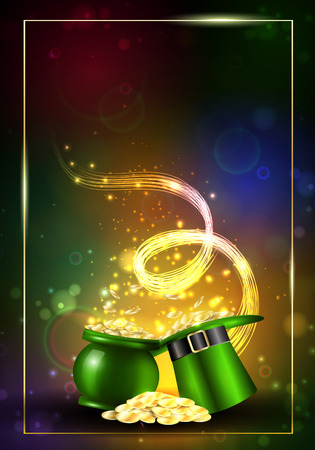 St. Patricks Day. Greeting card with a St. Patricks Day. Stock Photo