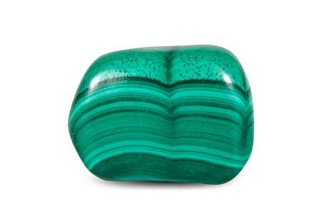 Macro shooting of natural gemstone. Polished green Nephrite , jade. Mineral gem stone. Isolated on white background.