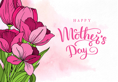 Happy mothers day greeting card with mothers day floral background happy mothers day greeting card with mothers day floral background stock photo m4hsunfo