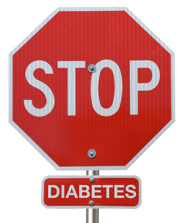 hyperglycemia: Stop sign reading  Stop Diabetes