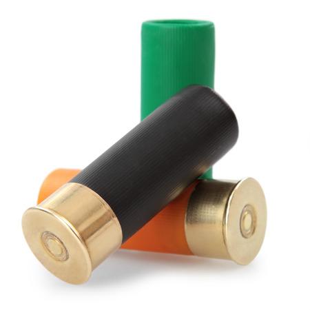 shotgun cartridges isolated on white background