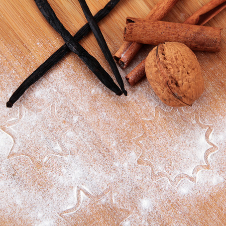 Christmas and holiday baking , a wooden board, Stock Photo - 26165261