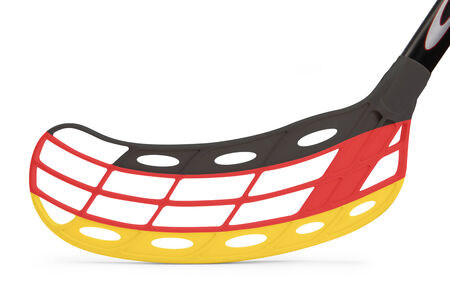 floorball stick with the flag Germany photo