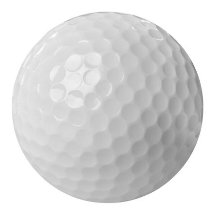 sports form: golf ball on white   Stock Photo