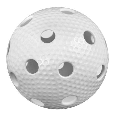floorball ball isolated on white