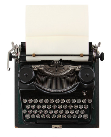vintage typewriter isolated on white background  Standard-Bild