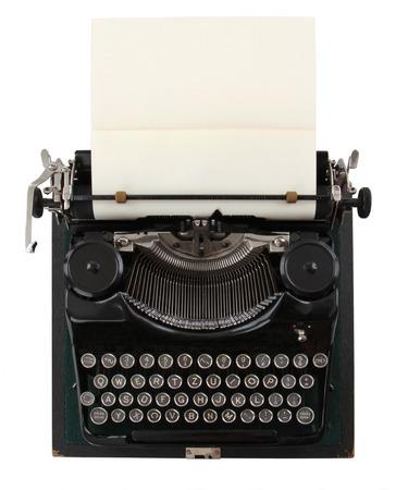 vintage typewriter isolated on white background  Reklamní fotografie