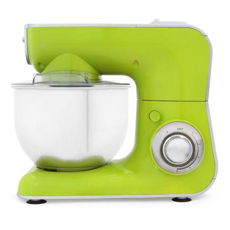 batteur �lectrique: m�langeur �lectrique verte isol�e sur fond blanc
