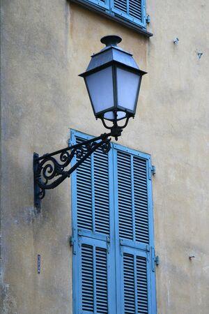 Classic lantern on wall photo