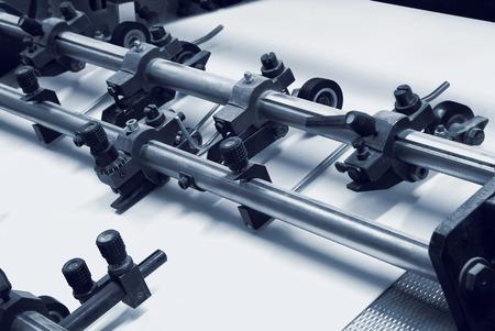 imprenta: El equipo de prensa en una moderna imprenta