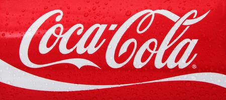 aspartame: Nachod, Czech Republic May 15 2015: photo of Classic Coca-Cola can on White Background. Coca-Cola Company