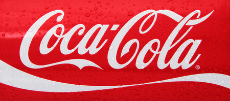 Nachod, Czech Republic May 15 2015: photo of Classic Coca-Cola can on White Background. Coca-Cola Company