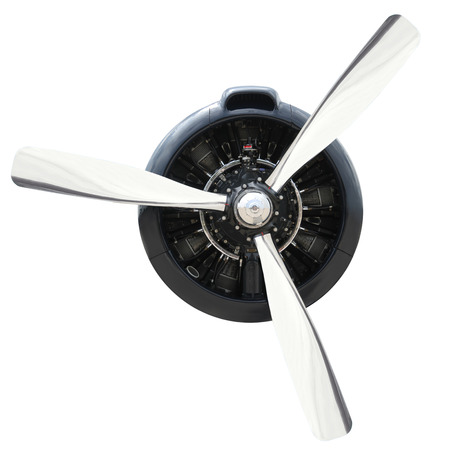 Plane Motor with Propeller Banque d'images