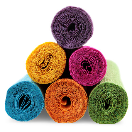 few rolls of crepe paper in different colors