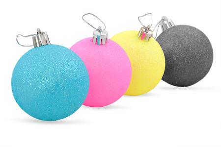colors christmas decorations Banque d'images