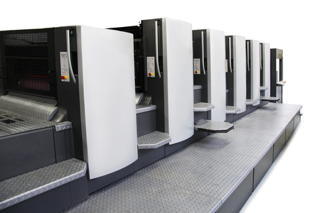 The equipment for a press in a modern printing house Banque d'images