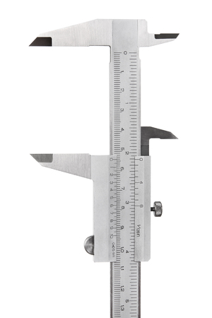 sliding scale: Vernier caliper isolated on white background Stock Photo