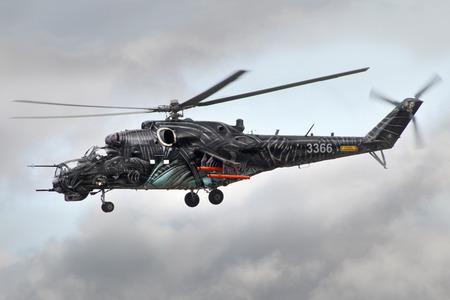 mi: CIAF, CZECH INTERNATIONAL AIR FEST 2.september 2017 Hredec Kralove Czech Republic: Czech Mil Mi-24 attack helicopter
