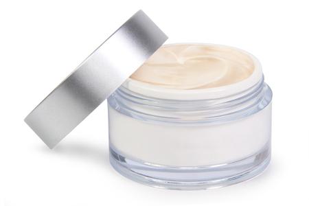beauty cream jar on white background Reklamní fotografie