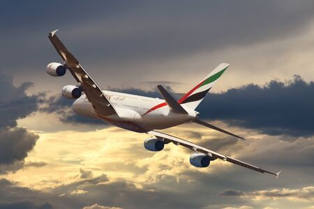 Airbus A380 aircraft July 2018 Cote dAzur (NCE) Nice France