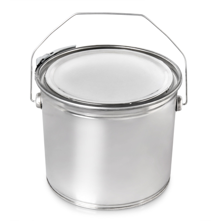 paint metal container isolated on white background 免版税图像