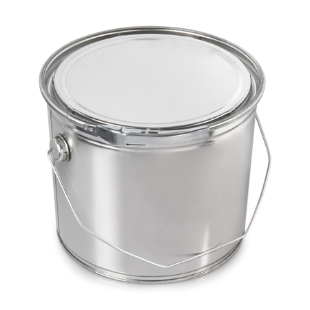 paint metal container isolated on white background Reklamní fotografie
