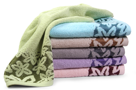 Towels isolated on white background Reklamní fotografie